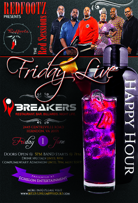 Redfootz Presents The Red Sessions at Breakers Lounge