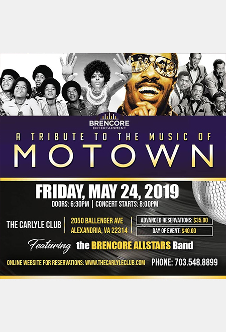 Motown Tribute Show at The Carlyle Club flyer