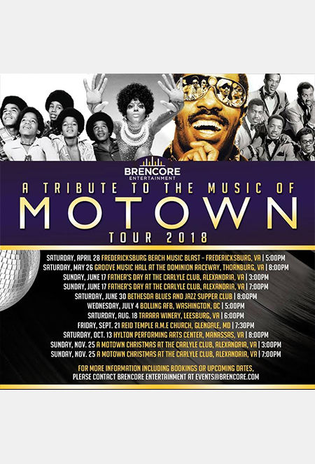 Motown Tribute Tour flyer