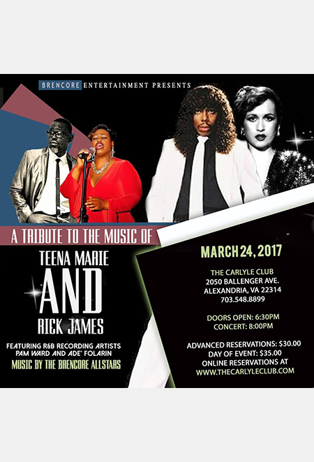 A Tribute to the Music of Teena Marie and Rick James